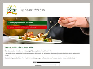 Manor Farm Foods Online  Responsive site  Web Design by Bazil Guernsey